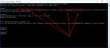 Son of a Batch! AutoCAD Core Console Through Lisp
